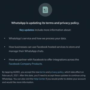 notifica utenti di WhatsApp in India